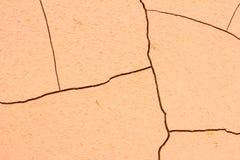 Треснутая земля почвы, земля настолько длиной безводная, конец-вверх засухи Стоковое Изображение RF
