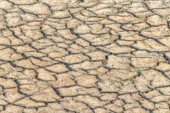 Треснутая земля, удобряет большую засуху Стоковые Фотографии RF