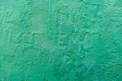 Треснутая зеленая текстура предпосылки стены стоковые изображения rf