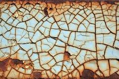 треснутая краска металла ржавая Стоковое Изображение