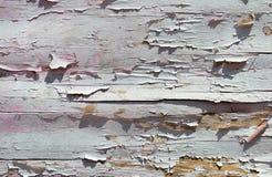 Треснутая краска на деревянной стене от планок Предпосылка Grunge Стоковое Изображение RF
