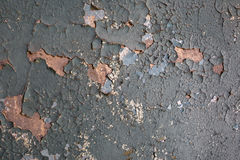 Треснутая краска на стене, винтажной старой стене, текстуре, картине Стоковое Изображение