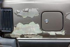 Треснутая краска на теле автомобиля Стоковые Изображения RF