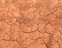 треснутая красная почва Стоковая Фотография RF