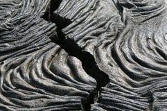 треснутая лава Стоковая Фотография RF