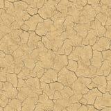 Треснутая почва. Безшовная текстура. Стоковое Фото