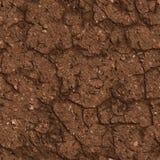 Треснутая почва Брайна. Безшовная текстура Tileable. Стоковая Фотография