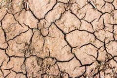 Треснутая почва на предпосылке Стоковое Изображение