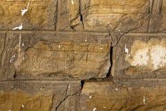 треснутая предпосылкой стена текстуры песчаника Стоковые Фото