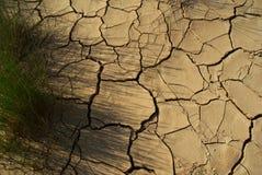Треснутая пустыня Испания Bardenas Reales поверхности глины Стоковые Фото