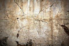 треснутая старая стена гипсолита Стоковое Изображение RF