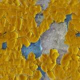 Треснутая старая эмаль на поверхности стены - безшовной картины Стоковые Фотографии RF