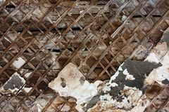треснутая стена шелушения краски Стоковое Изображение RF