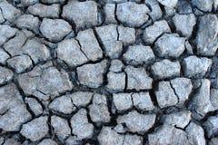 треснутая сухая земная текстура Стоковые Изображения