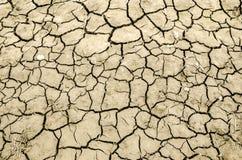 Треснутая текстура земли Стоковое Изображение RF