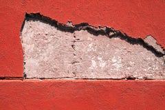 Треснутая текстура стены цемента Стоковое Изображение
