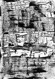 треснутая текстура grunge Выдержанная грязная предпосылка черная белизна вектор Стоковая Фотография