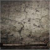 Треснутая темная стена с предпосылкой часов Стоковые Изображения