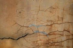 треснутая цементом стена текстуры штукатурки Стоковая Фотография RF