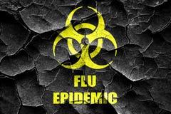 Треснутая Grunge предпосылка концепции вируса гриппа Стоковое Изображение