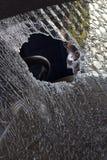 Треснутое лобовое стекло Стоковые Фотографии RF