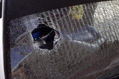 Треснутое лобовое стекло Стоковое Фото