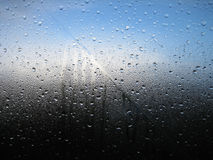 Треснутое окно ванной комнаты стоковые изображения rf