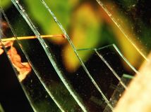 треснутое окно Стоковая Фотография RF