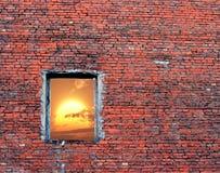 треснутое окно Стоковое фото RF
