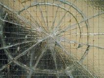 треснутое окно Стоковые Фотографии RF