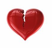 треснутое сердце иллюстрация вектора