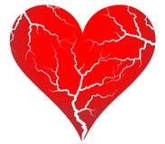 Треснутое сердце стоковая фотография rf