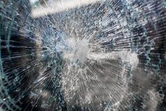 Треснутое сломанное стекло Стоковая Фотография
