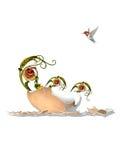 Треснутое яичко Стоковое Фото