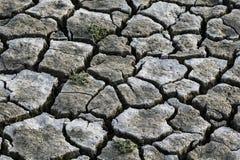 Треснутые земли отсутствие воды засушливый фотоснимок почвы Стоковое Изображение RF