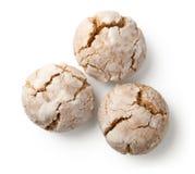 Треснутые печенья гайки на белизне Стоковое Изображение RF