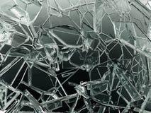 Треснутые части прозрачного стекла сломленные или иллюстрация вектора