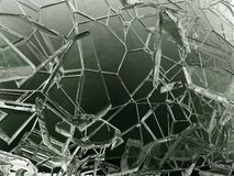Треснутые части прозрачного стекла сломленные или иллюстрация штока