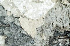 Треснутый бетон, винтажная трещина на старой предпосылке, старой стене Стоковое фото RF