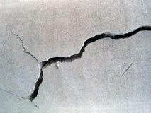 треснутый бетон Стоковая Фотография