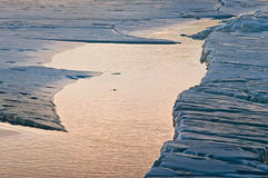 Треснутый лед Стоковое Фото
