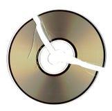 треснутый компактный диск Стоковое Изображение