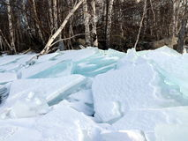 треснутый льдед Стоковые Изображения