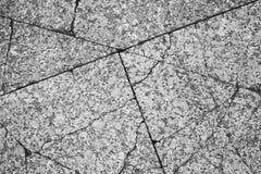 Треснутый серый гранит Каменный пол, плоская текстура стоковое фото