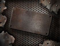 треснутый шаблон grunge металлопластинчатый Стоковое фото RF