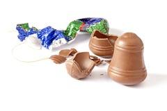 Треснутый шоколад Стоковая Фотография