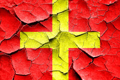 Треснутый Grunge сигнальный флаг Romeo морской Стоковые Фото