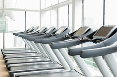 Третбаны в спортзале Стоковые Фото