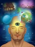 Третий глаз, clairvoyant Стоковые Фотографии RF