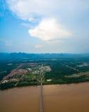 Третий мост тайских и Lao приятельства Стоковые Изображения RF